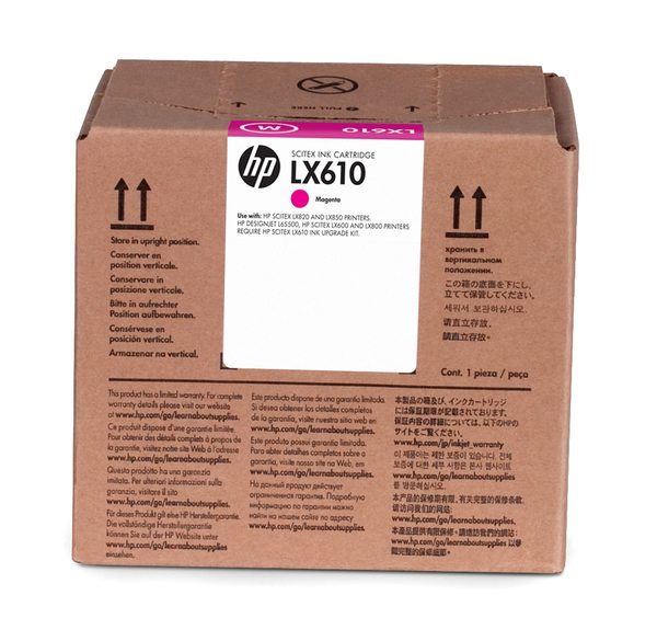 HP LX610 3-liter Magenta Latex Ink Cartridge