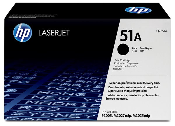 HP LaserJet Q7551A Black Print Cartridge