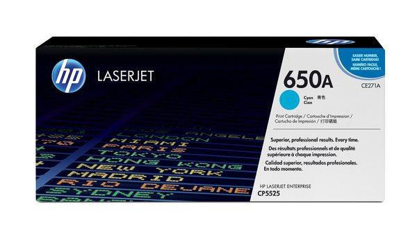 HP 650A Cyan LaserJet Print Cartridge