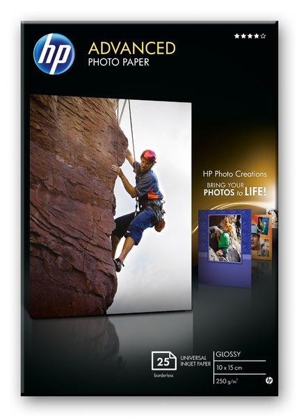 HP Advanced Glossy Photo Paper-25 sht/10 x 15 cm