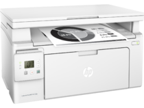 HP LaserJet Pro MFP M130a, Right facing, with output