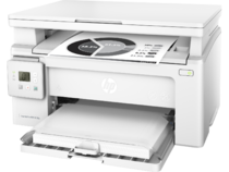 HP LaserJet Pro MFP M130a, Left facing, Closed Dust Cover, with output