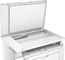 HP LaserJet Pro MFP M130a, Detailed view of open scanbed