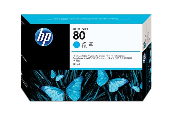 HP 80 175-ml/350-ml Cyan Ink Cartridge