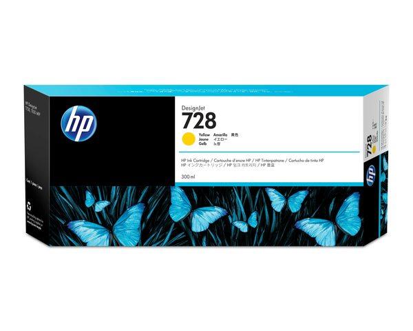HP 728 300ml Yellow Ink Cartridge