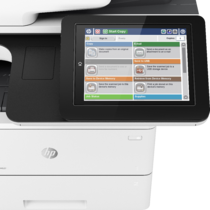 LaserJet Enterprise Flow MFP M527, Detailed view of LCD screen