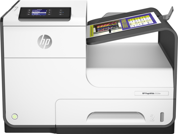 HP PageWide 352dw, Center, Front, with output