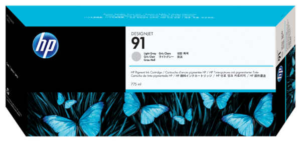 HP 91 775-ml Pigment Light Gray Ink Cartridge