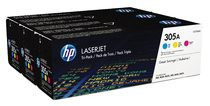 HP 305A Cyan/Magenta/Yellow Tri-pack LaserJet Toner Cartridges