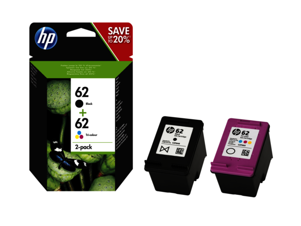 HP 62 Ink Cartridge Combo 2-Pack