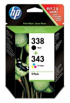 HP 338/343 Combo-pack Inkjet Print Cartridges