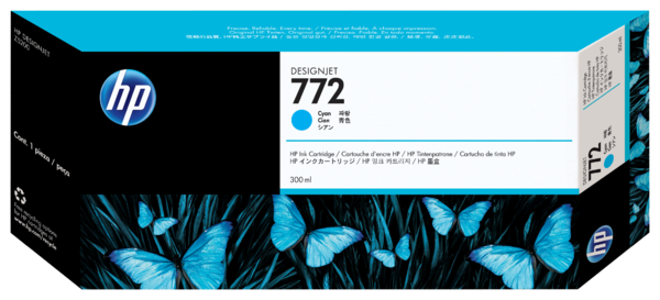 HP 772 300-ml Cyan Designjet Ink Cartridge
