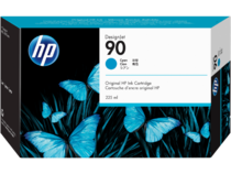 HP 90 225-ml Cyan DesignJet Ink Cartridge, WW