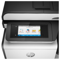 HP PageWide Pro 477dw MFP, Detailed view of LCD screen