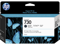 HP 730 130-ml DesignJet Matte Black Ink Cartridge, WW