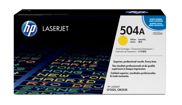 HP 504A Yellow Government LaserJet Toner Cartridge