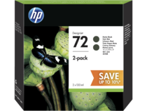 HP 72 DesignJet Matte Black Ink Cartridge 2-pack