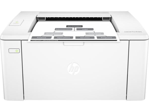 HP LaserJet Pro M102a, Center, Front, with output