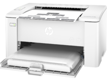 HP LaserJet Pro M102a, Left facing, Closed Dust Cover, with output