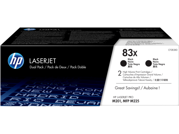 HP LaserJet Dual Pack Print Cartridge 83X