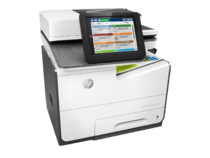 HP PageWide Enterprise Color MFP 586f printer, PageWide Technology, automatic duplexing, right view