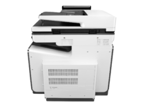 HP PageWide Enterprise Color MFP 586f printer, PageWide Technology, automatic duplexing, rear view
