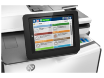 HP PageWide Enterprise Color MFP 586f printer, PageWide Technology, automatic duplexing, detail cont