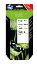 HP 940XL Combo-pack Black/Cyan/Magenta/Yellow Officejet Ink Cartridges