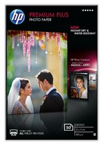 HP Premium Plus Glossy Photo Paper-50 sht/10 x 15 cm