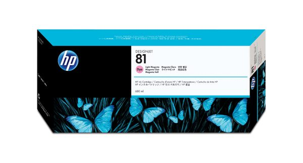 HP 81 Light Magenta Dye Ink Cartridge- C4935A