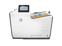 HP PageWide Enterprise Color 556dn printer, PageWide Technology, automatic duplexing, center view