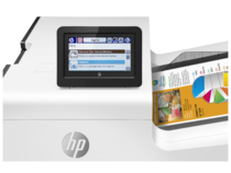 HP PageWide Enterprise Color 556dn printer, PageWide Technology, automatic duplexing, control panel
