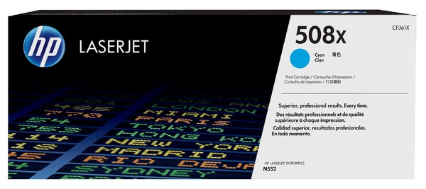 HP 508X High Yield Cyan Original LaserJet Toner Cartridge
