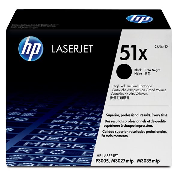 HP LaserJet Q7551X Black Print Cartridge