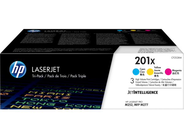 HP LaserJet Triple Pack Print Cartridge - 201X