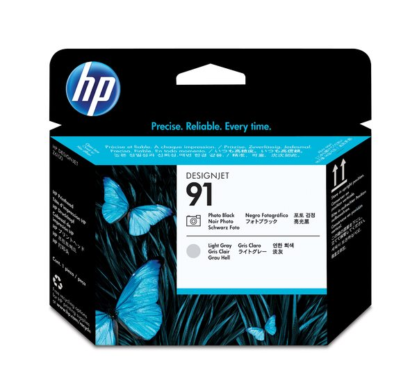 HP 91 Photo Black and Light Gray Printhead
