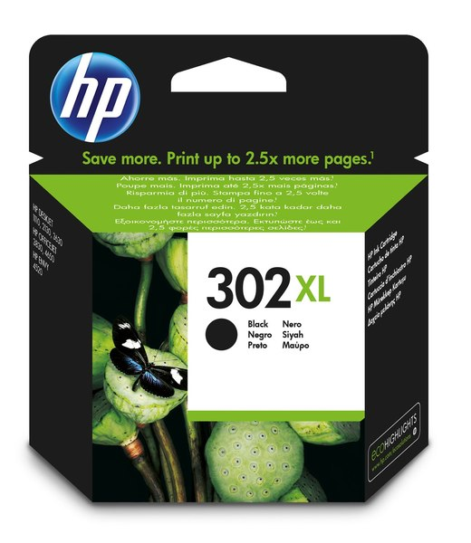 HP 302XL High Yield Black Original Ink Cartridge