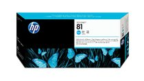 HP 81 Cyan Dye Printhead and Printhead Cleaner