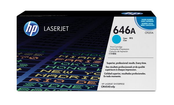 HP CF031A Cyan Contract LaserJet Toner Cartridge