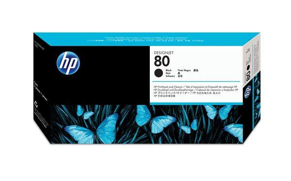 HP 80 Black Printhead and Printhead Cleaner