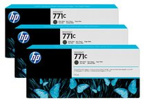 HP 771C 3-pack 775-ml Matte Black Designjet Ink Cartridges
