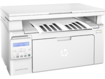 HP LaserJet Pro MFP M130nw, Right facing, with output