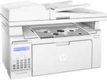 HP LaserJet Pro MFP M130fn, Right facing, with output