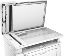 HP LaserJet Pro MFP M130fn, Detailed view of scanbed