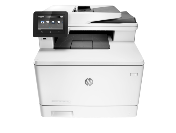 HP Color LaserJet Pro M477fnw Printer, center facing