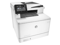HP Color LaserJet Pro M477fnw Printer, right facing