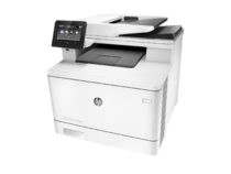 HP Color LaserJet Pro M477fnw Printer, left facing