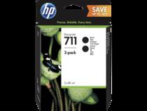 HP 711 DesignJet Black Ink Cartrige 2-pack
