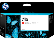 HP 745 130-ml DesignJet Chromatic Red Ink Cartridge