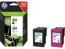 HP 301 Ink Cartridge Combo 2-Pack